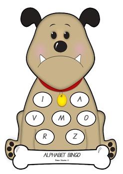 Bulldog Alphabet Bingo - Capital Letters