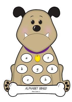 Bulldog Alphabet Bingo - Lowercase Letters
