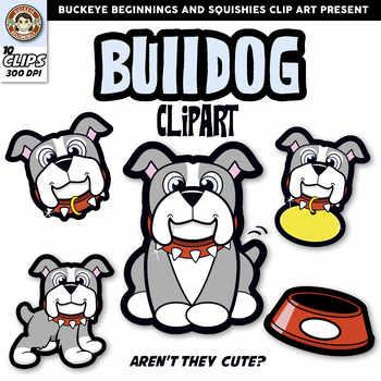 Bulldog Clip Art By Buckeye Beginnings Tpt