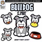 Bulldog Clip Art {Squishies Clipart}