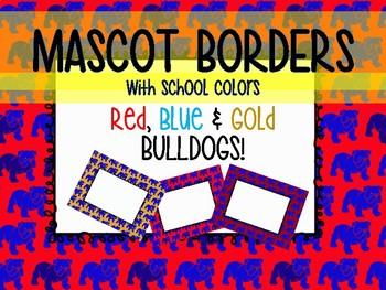 Bulldog Mascot Borders
