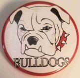 20 Bulldog Mascot Buttons, 1.5 inch.