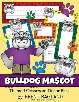 Bulldog Mascot Themed Classroom Decor Pack
