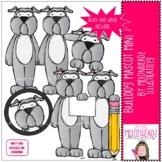 Bulldog Mascot clip art - Mini - by Melonheadz Clipart