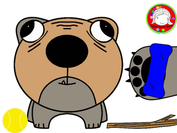 Bulldog Pack Clipart (Personal & Commercial Use)
