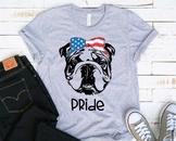 Bulldog Pride USA Bandana mask United States Flag 4th july Bulldogs Breed 1380s