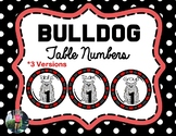 Bulldog Table Numbers {Red & Black}