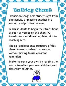 FREE Bulldog Transition Chant