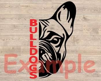Bulldogs SVG DxF EpS head football baseball basketball georgia bulldog 961s