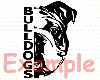 Bulldogs SVG DxF EpS head football baseball basketball georgia bulldog 966s