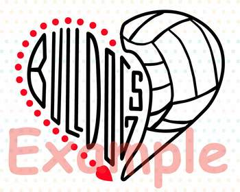 Bulldogs Voleyball SVG volley-ball lady ladydogs school spirit -916S
