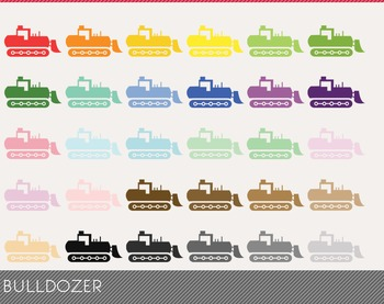 Bulldozer Digital Clipart, Bulldozer Graphics, Bulldozer PNG