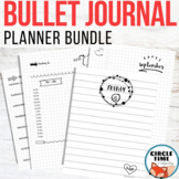 Bullet Journal Bundle, Bujo Templates with Daily Writing a
