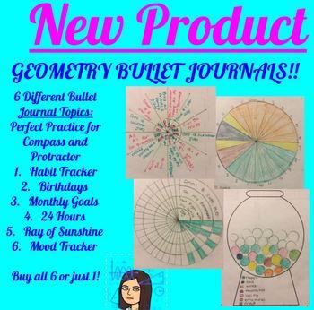 Bullet Journal Bundle - 6 Protractor and Compass Activities