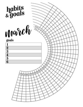 Bullet Journal Habit & Goal Trackers for Students, Monthly Planner Materials