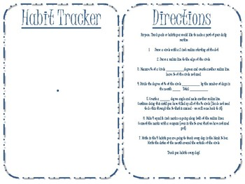 Bullet Journal - Habit Tracker - Geometry Compass and Protractor Activity