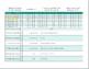 Bullet Journal Habit Tracker spreadsheet Template