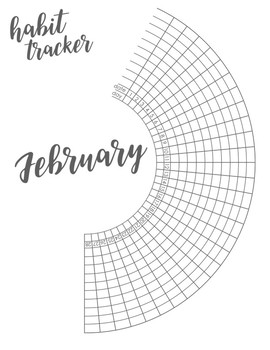 Bullet Journal Habit Trackers for Students, Monthly Planner Materials