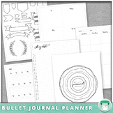 2019-2020 Bullet Journal Lesson Planner Template Pages