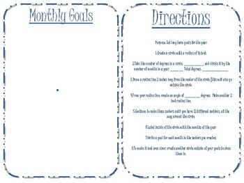 Bullet Journal - Monthly Goals - Protractor and Compass Activity