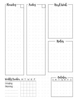 Bullet Journal Planner Weekly Spread - OCTOBER