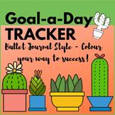 Bullet Journal Style Cactus Theme GOAL TRACKER | #bujo Monthly goal tracker