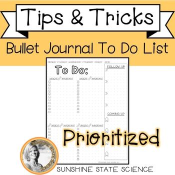 Bullet Journal TO DO LIST Printable