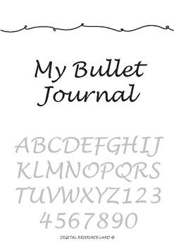 Bullet Journal Template - Full Year Unlimited - Teacher, Student or Admin