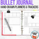 Bullet Journal Template Planner Pages, Hand Drawn Bujo