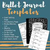 Bullet Journal Templates for Interactive Notebooks!