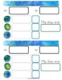 Bullet Journal Watercolor Daily Log