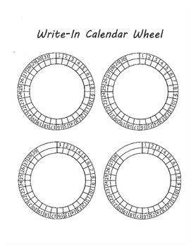 Bullet Journal Write-In Calendar Wheel