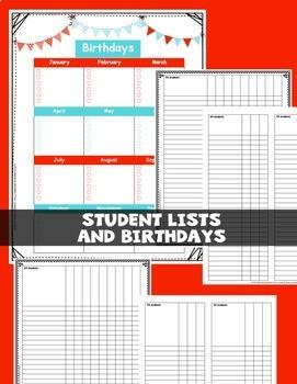 Editable Teacher Binder 2018-2019 {18 MONTHS} Bullet Lesson Planning BRIGHTS