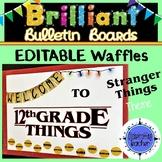Bulletin Board 12th Grade Editable Stranger Things Theme