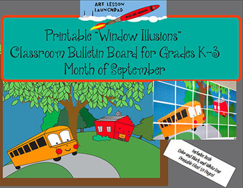 Bulletin Board Mural Printable:  Black & White Line or Col