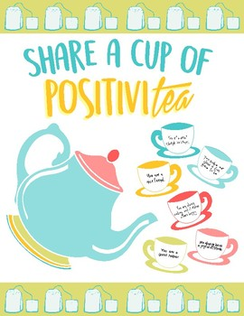 Bulletin Board Activity - Share a Cup of Positivitea