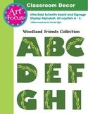 Bulletin Board Alphabet - Green with leafy vine