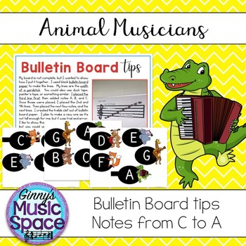 Bulletin Board Animal Musicians Theme