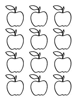 Divine image in printable apple template