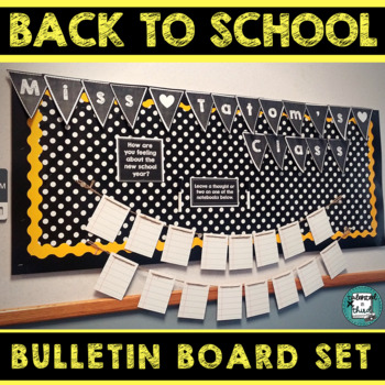 Classroom Decor - Bulletin Board - Back To School