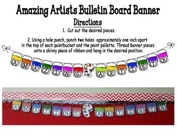 Bulletin Board Banner: Amazing Artists