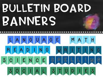 Bulletin Board Banner Headers {FREEBIE}