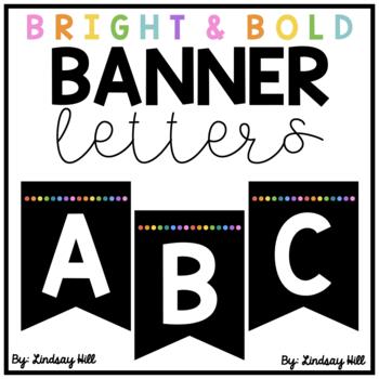 Bright & Bold Bulletin Board Banner Letters