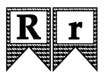 Bulletin Board Banner letters - Black and Bold