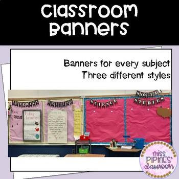 Bulletin Board Banners