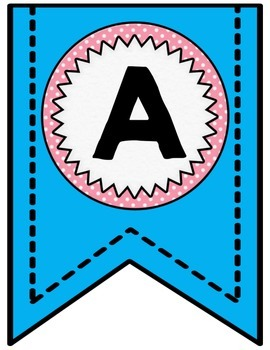 Bulletin Board Banners - Blue and Pink