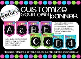 Customize Your Own Bulletin Board Banners~Bright Colors(Pi