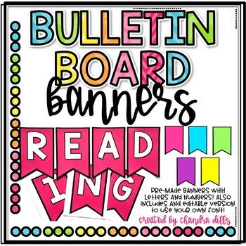 Bulletin Board Banner Headings- Pre-Made and Editable!