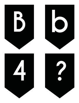 Bulletin Board Black Lettering Pack