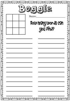 Bulletin Board Boggle Game